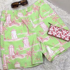 Lilly Pulitzer cabana banana Bermuda shorts 14
